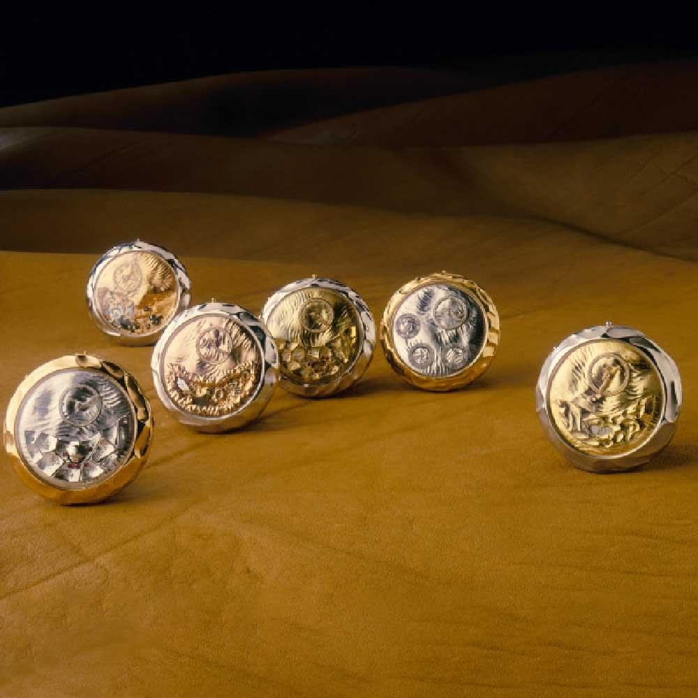 """The """"Les Montres des Sables"""" pocket watches designed by Dominique Loiseau. (Image from A Blog to Watch)"""