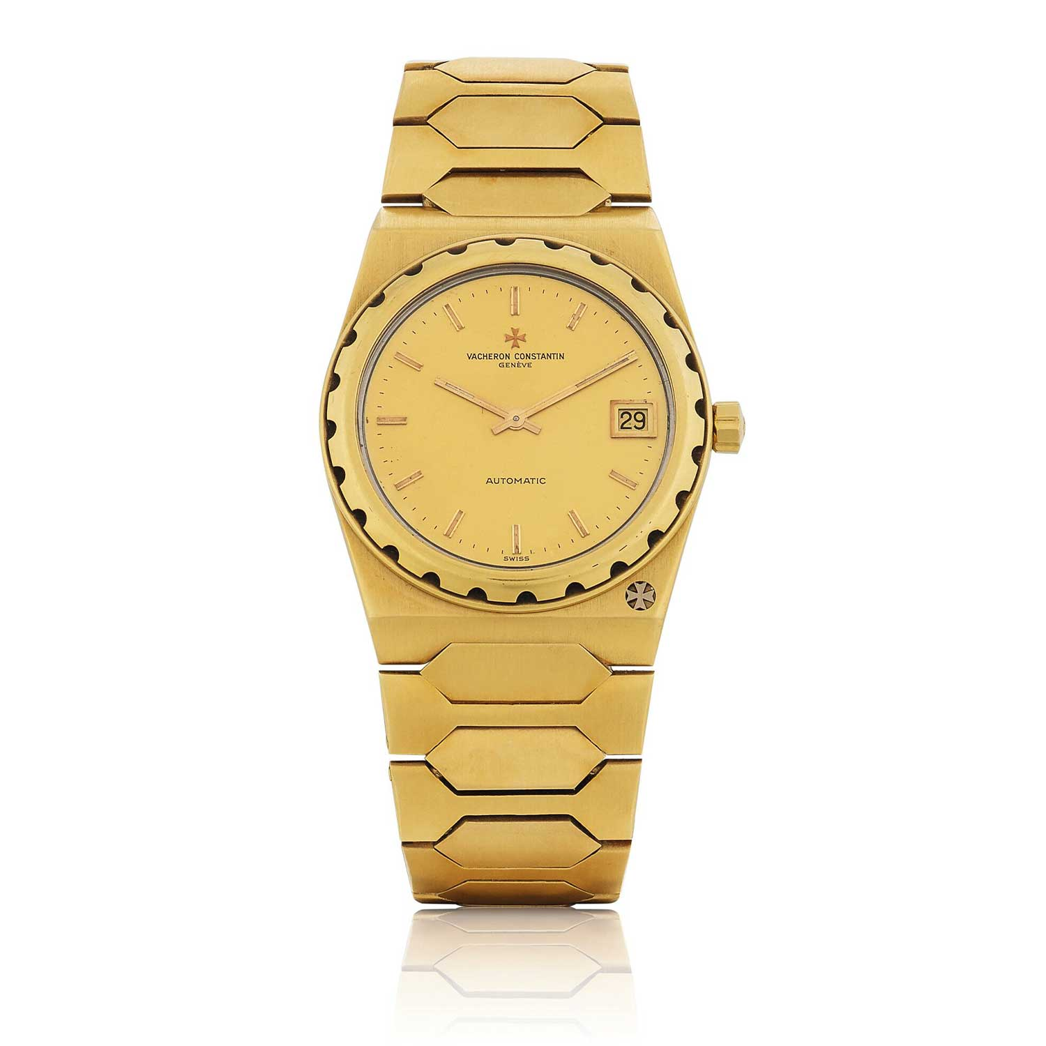 Vacheron Constantin's 222, ref. 44018, designed by Jörg Hysek was also available in yellow gold (Image: sothebys.com)