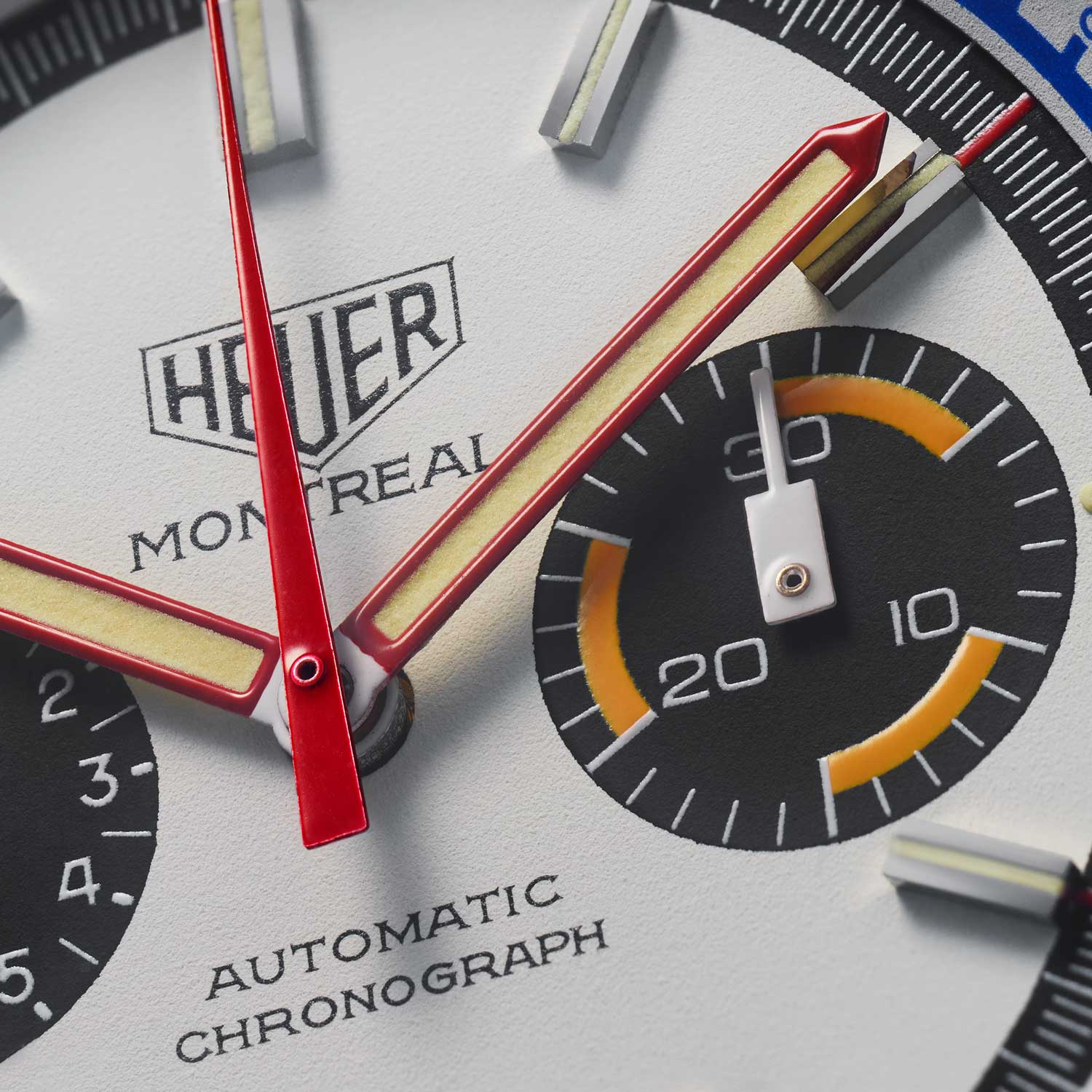 1972 White Heuer Montreal, reference 110.503W
