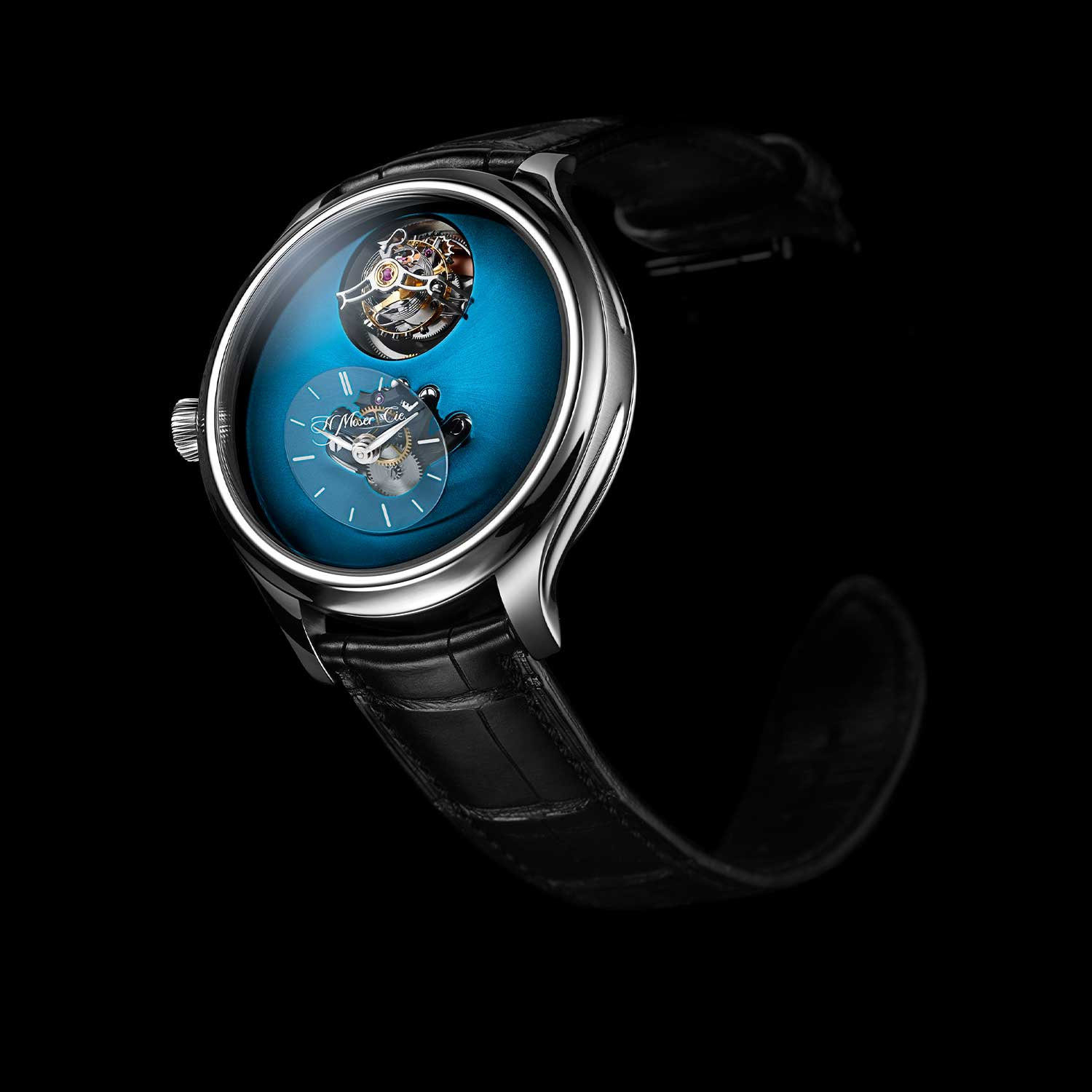 MB&F × H. Moser Endeavour Cylindrical Tourbillon with the Funky Blue dial