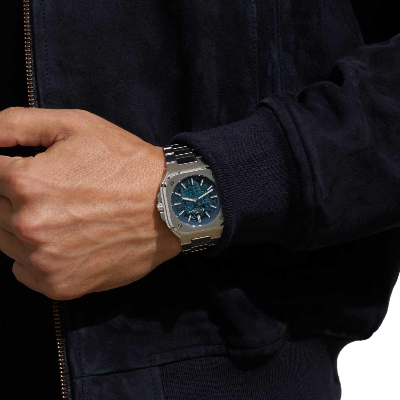 Bell & Ross BR 05 Skeleton Blue on the wrist