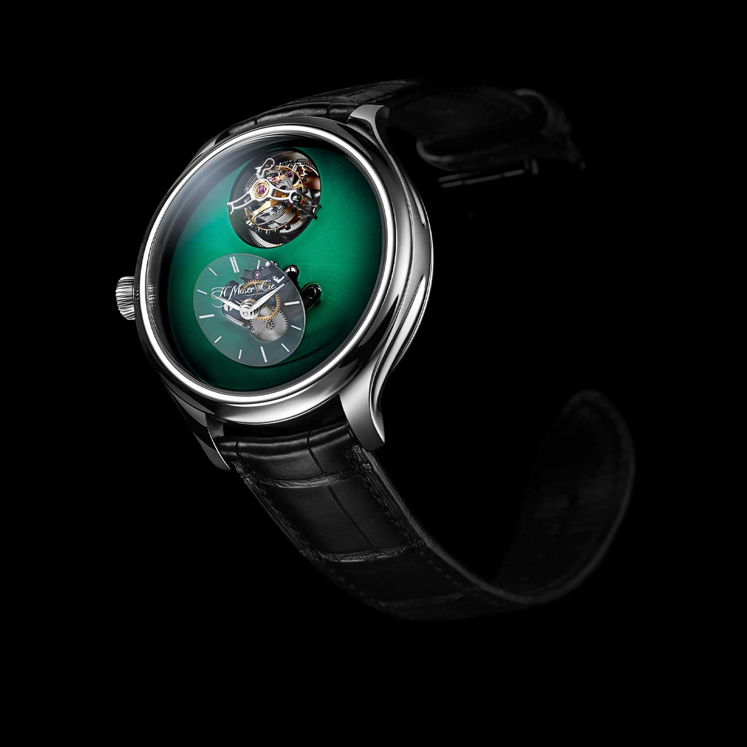 MB&F × H. Moser Endeavour Cylindrical Tourbillon with the Cosmic Green dial