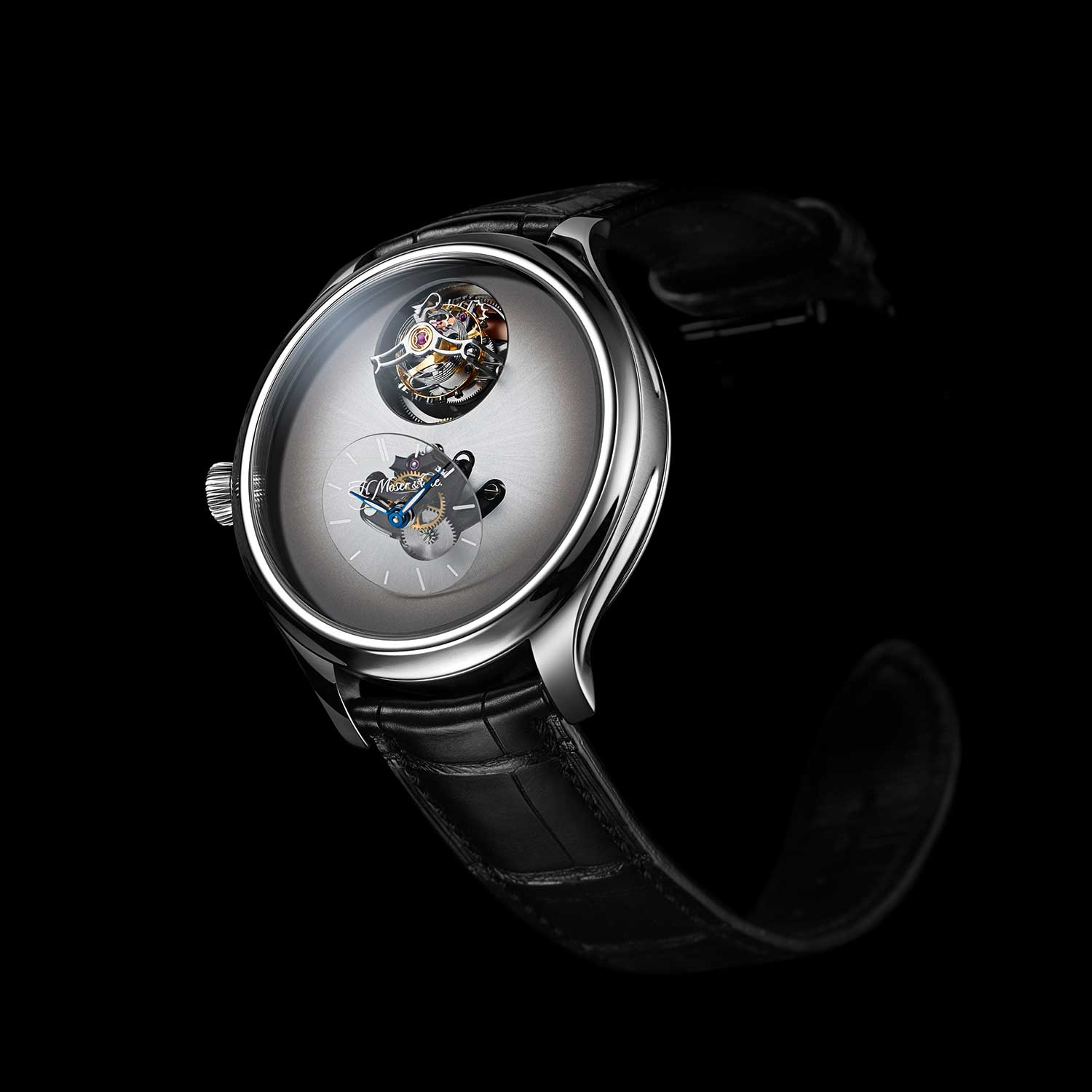 MB&F × H. Moser Endeavour Cylindrical Tourbillon with the Off-White dial