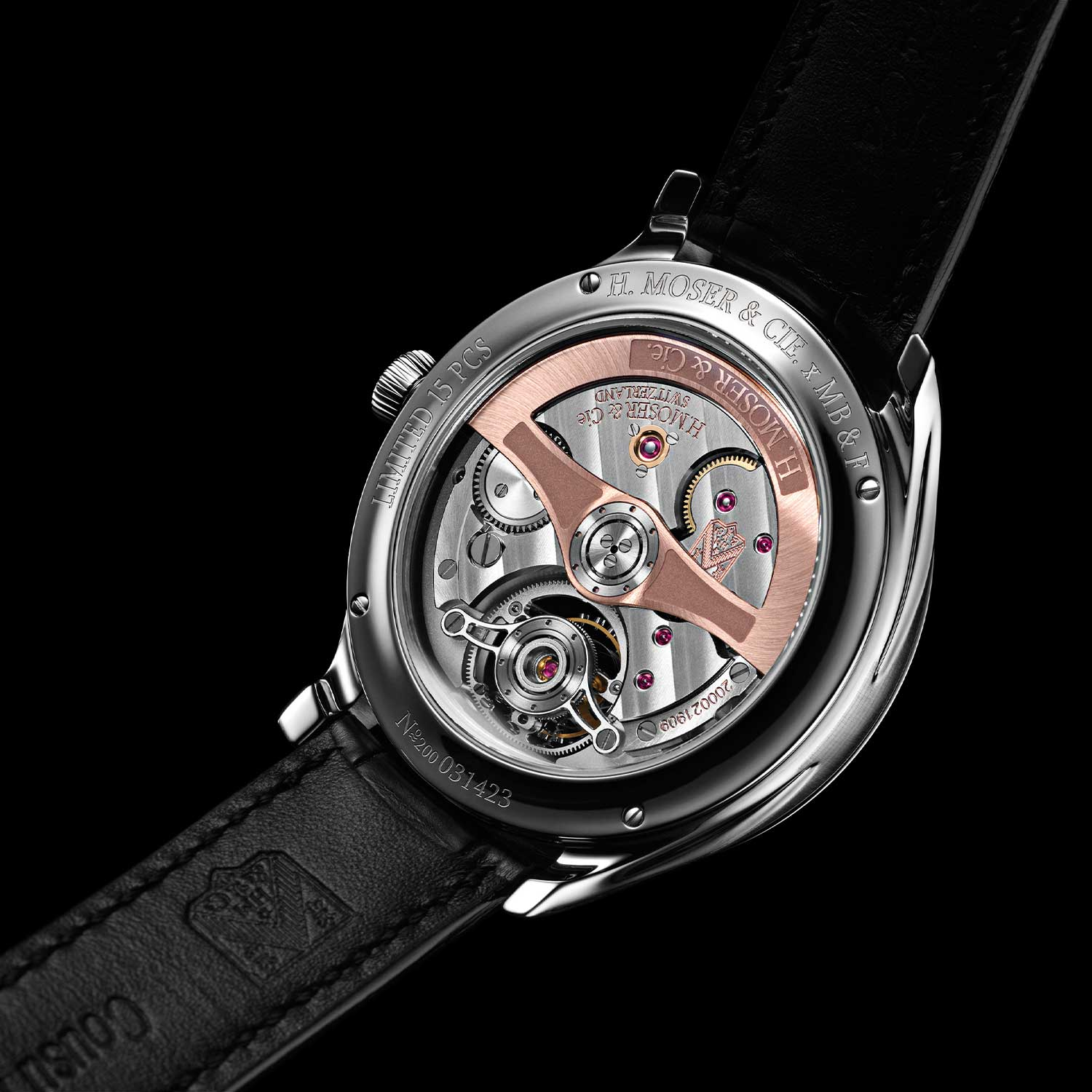 Caseback of the MB&F × H. Moser Endeavour Cylindrical Tourbillon