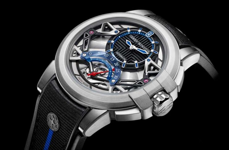 Harry Winston Project Z14 made in Zalium, the brand's proprietary alloy of aluminum and zirconium