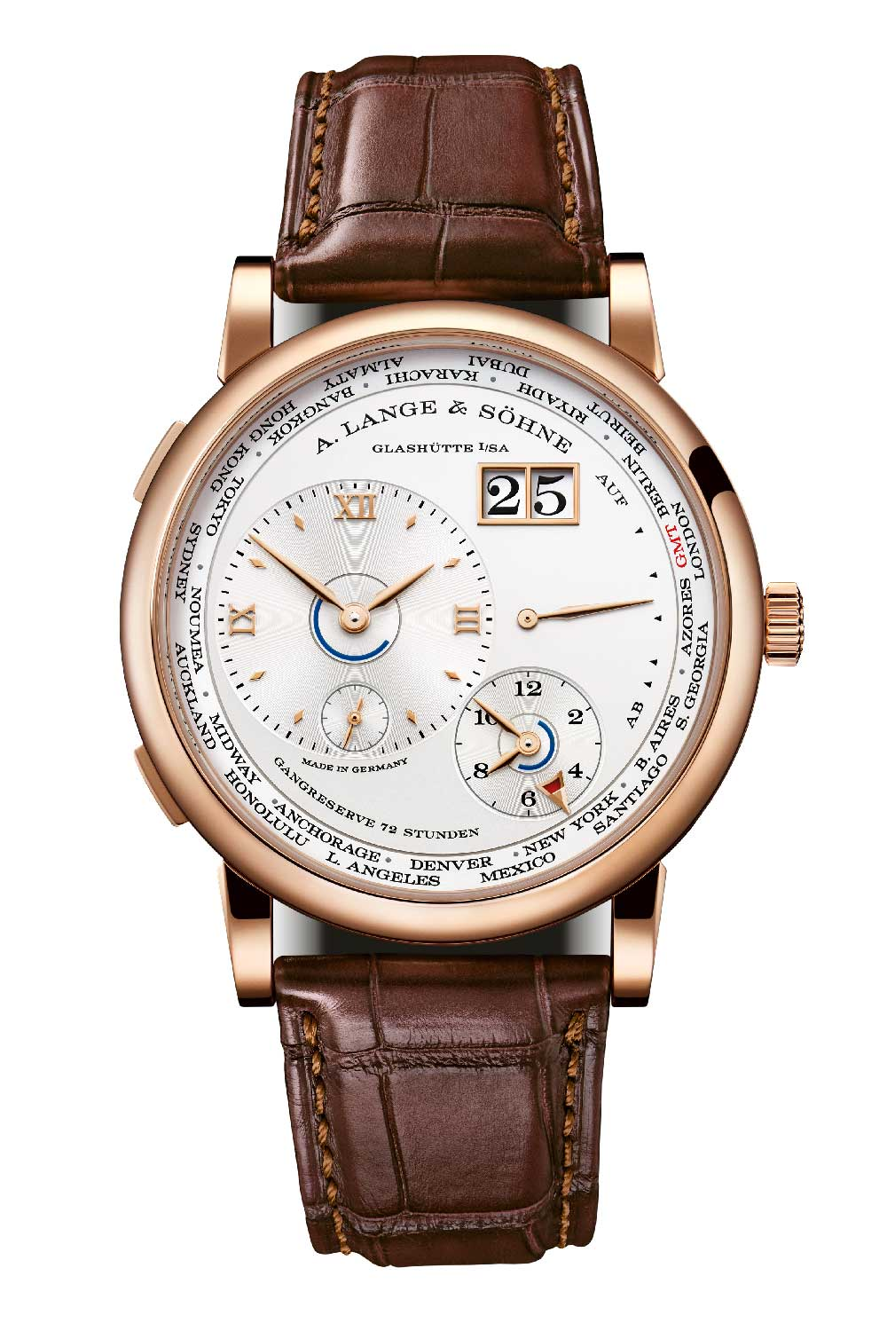 The new Lange 1 Time Zone in pink gold
