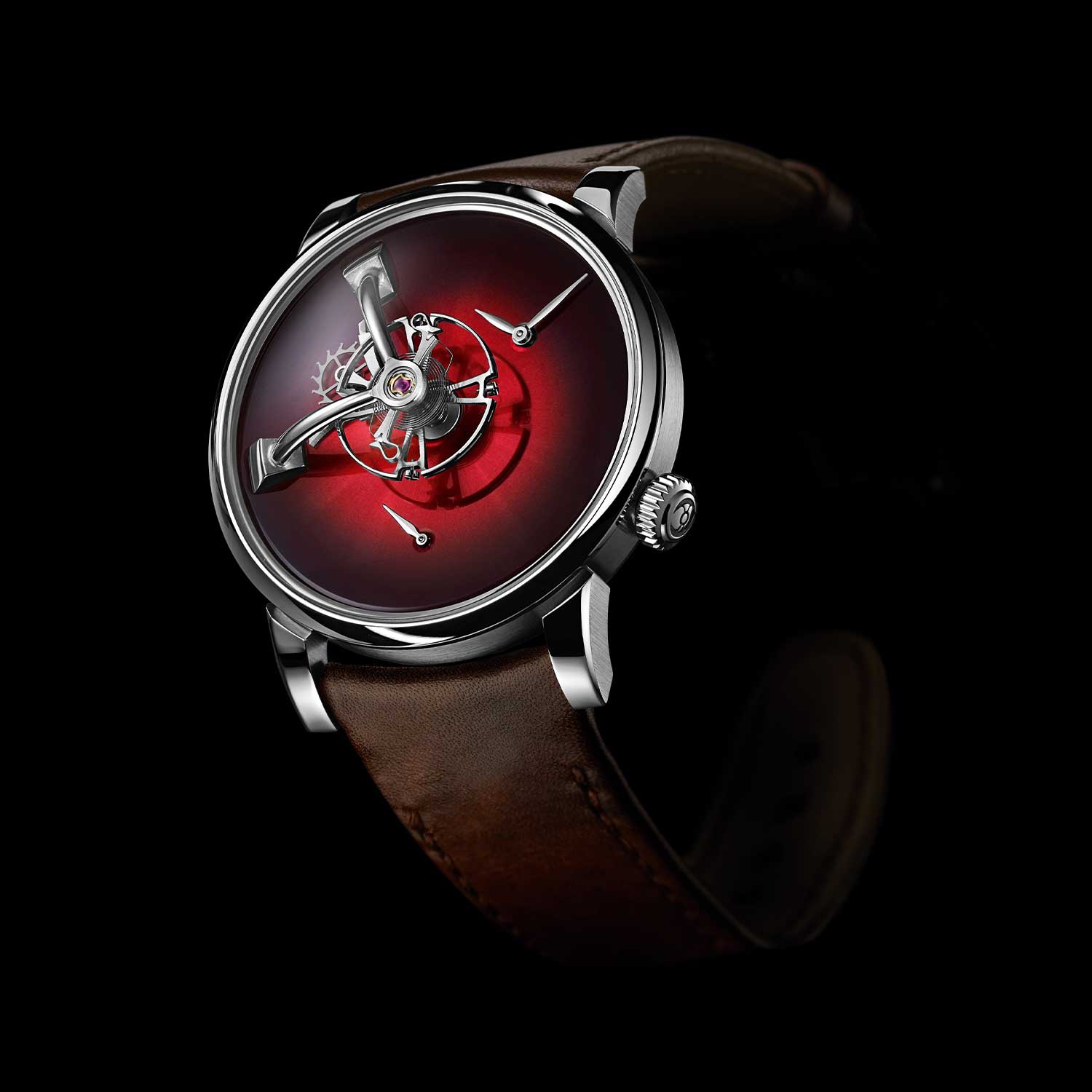 MB&F × H. Moser LM101 in Red