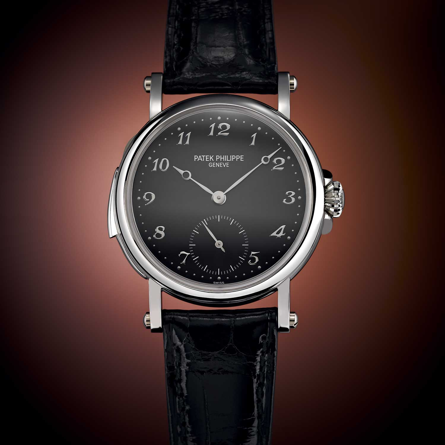 The reference 5029 in platinum, released in celebration of Patek Philippe's 1997 new building at Plan-les-Ouates; 30-piece limited edition - 10 in platinum, 10 in yellow gold, and 10 in rose gold