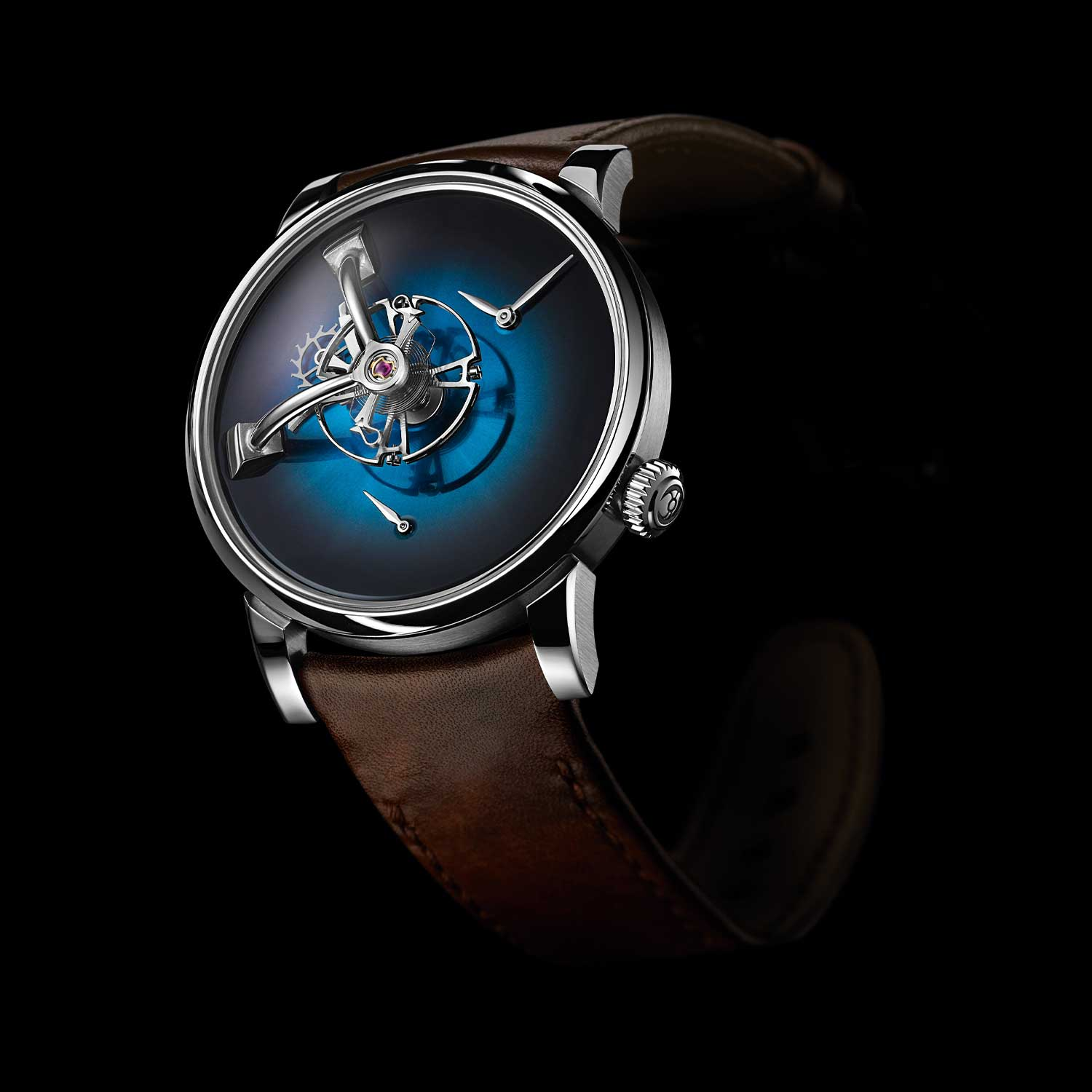 MB&F × H. Moser LM101 in Funky Blue