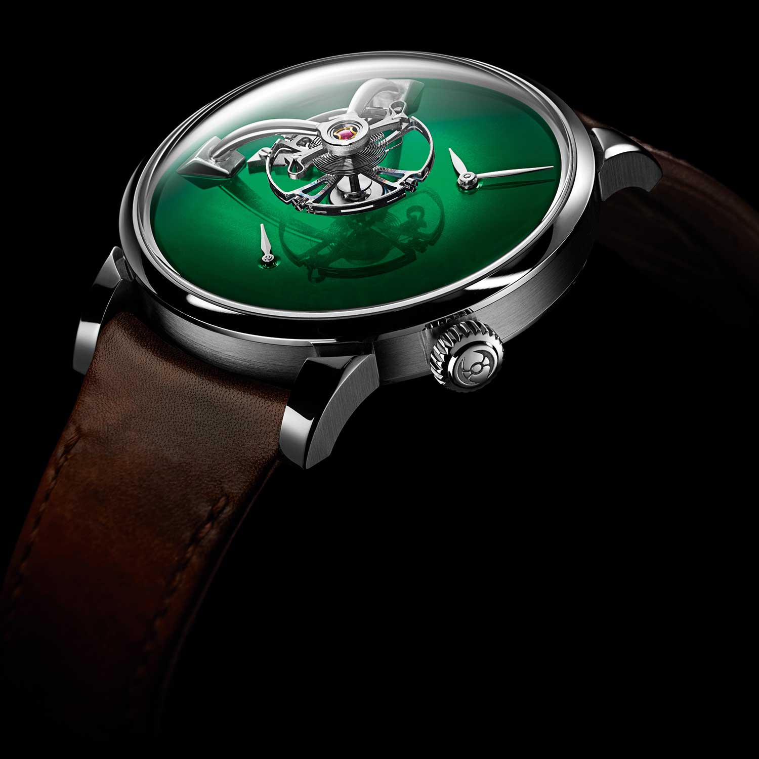 MB&F × H. Moser LM101 in Cosmic Green