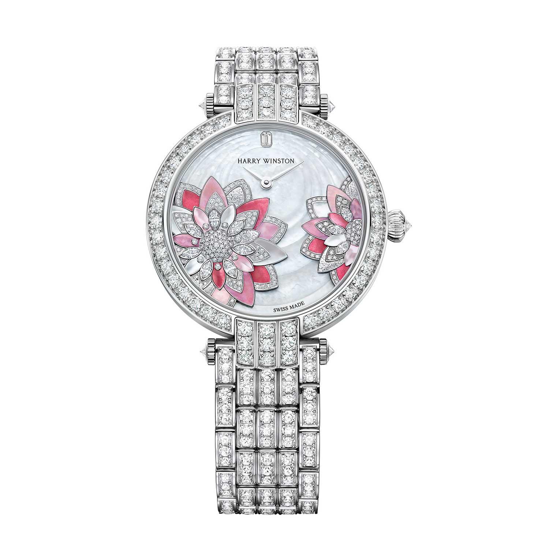 Premier Lotus Automatic 36mm on a diamond paved 18k white gold bracelet