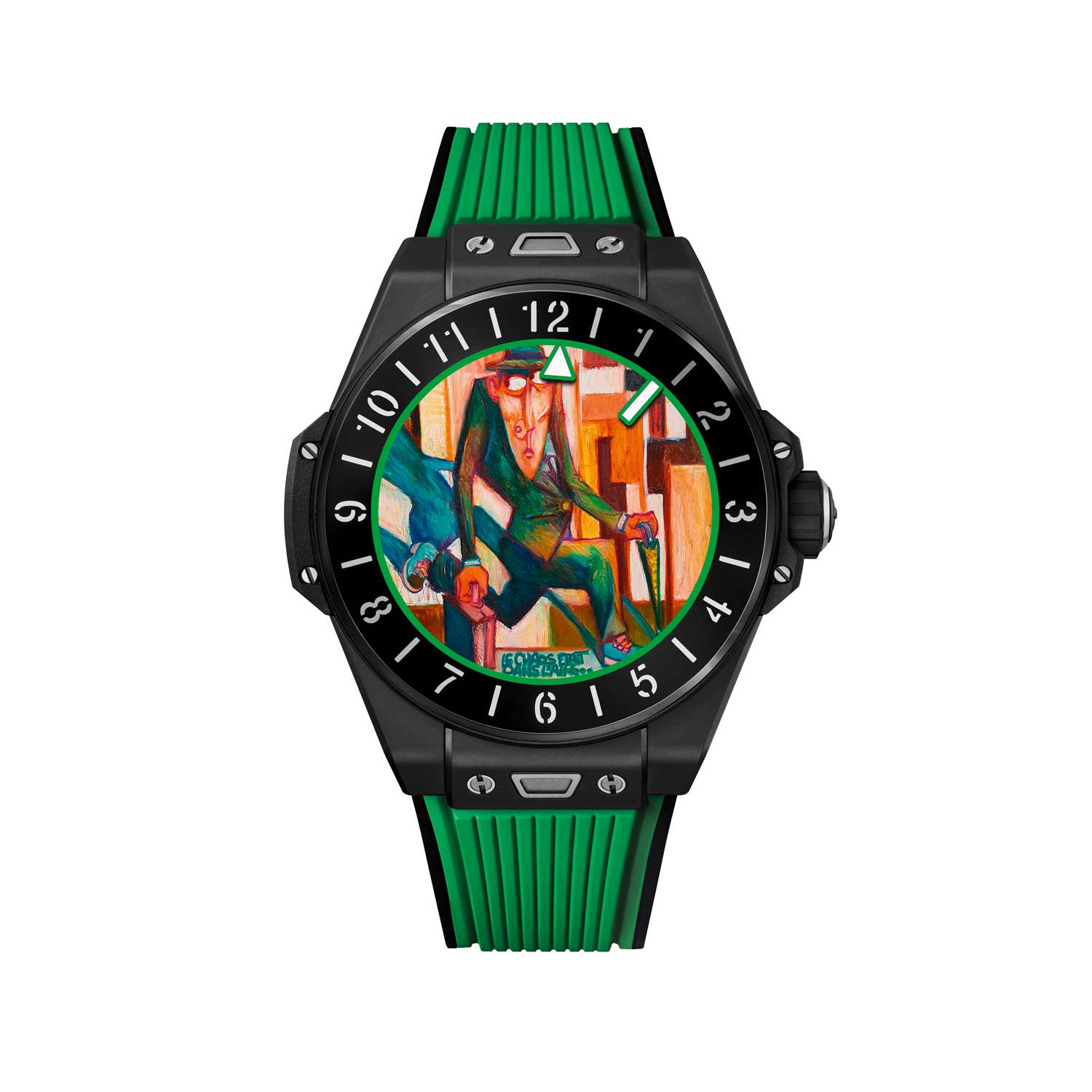 Lucky Green dial designed by Marc Ferrero for the Big Bang E