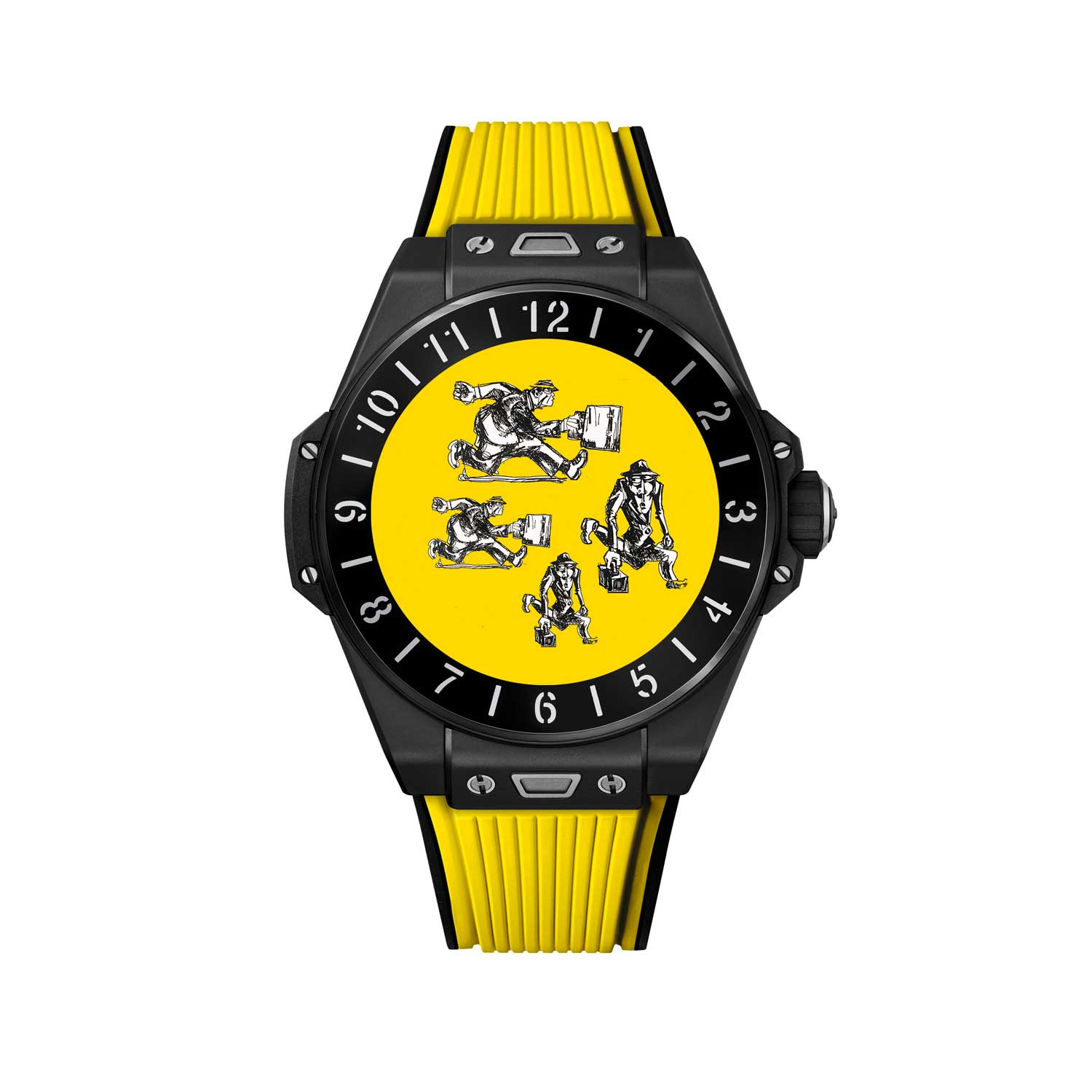 Happy Yellow dial designed by Marc Ferrero for the Big Bang E