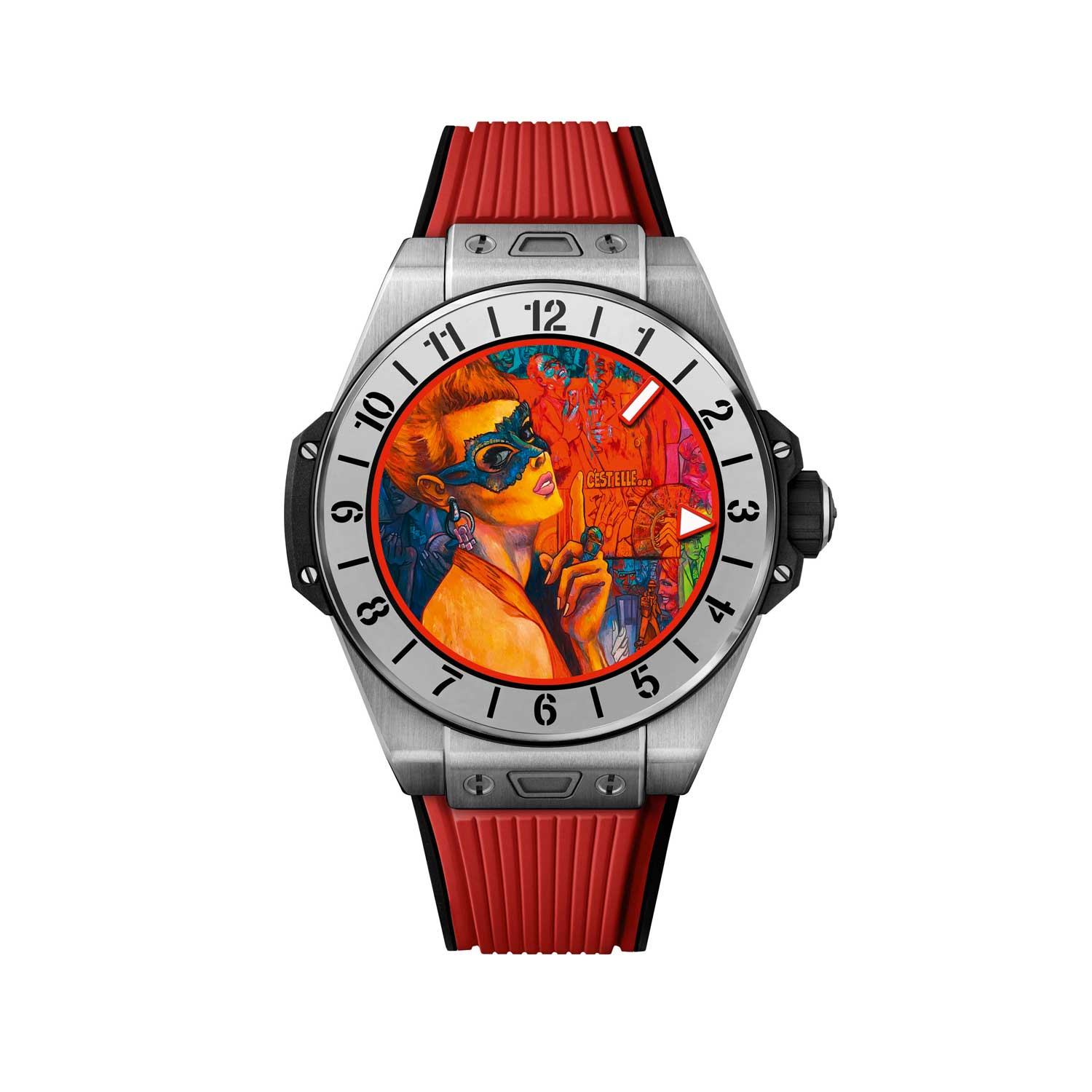 Magic Red dial designed by Marc Ferrero for the Big Bang E