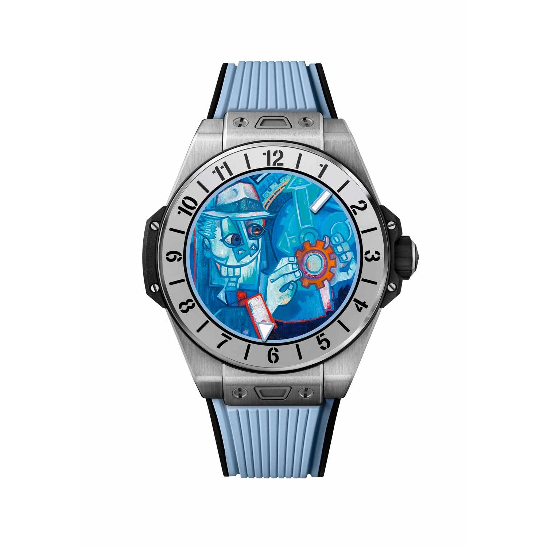 Magic Blue dial designed by Marc Ferrero for the Big Bang E