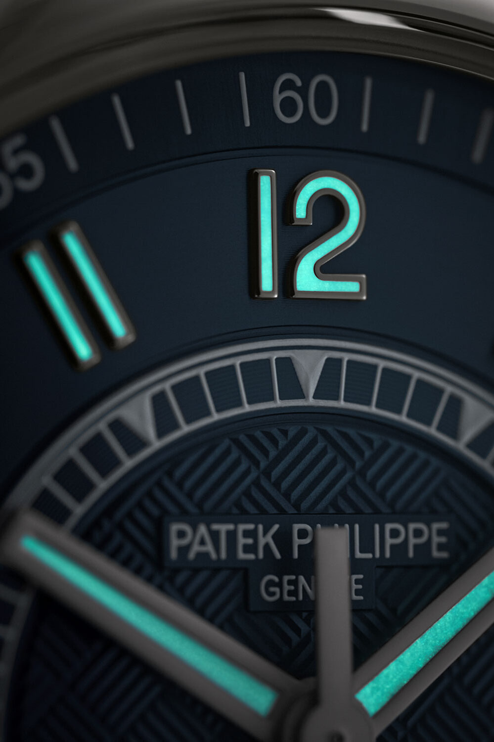 The lume Arabic numerals and hands on the reference 6007A-001 Calatrava