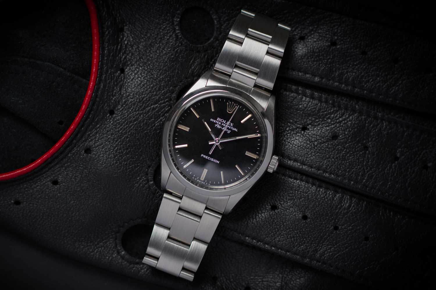 Rolex Air King ref. 5500 with a linen dial (Image: jeroenvink.net)
