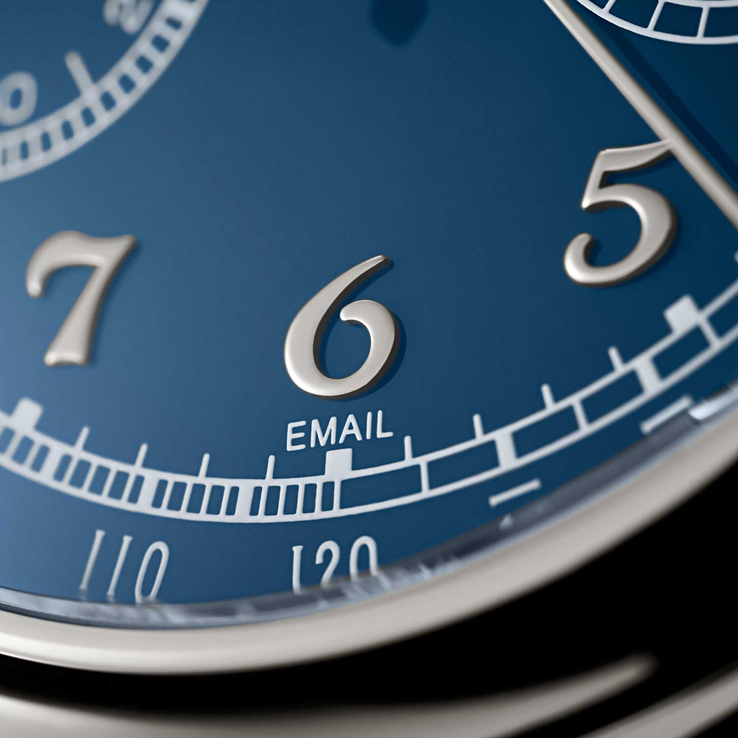 White gold applied Breguet numerals on the 5370P in platinum launched in 2020