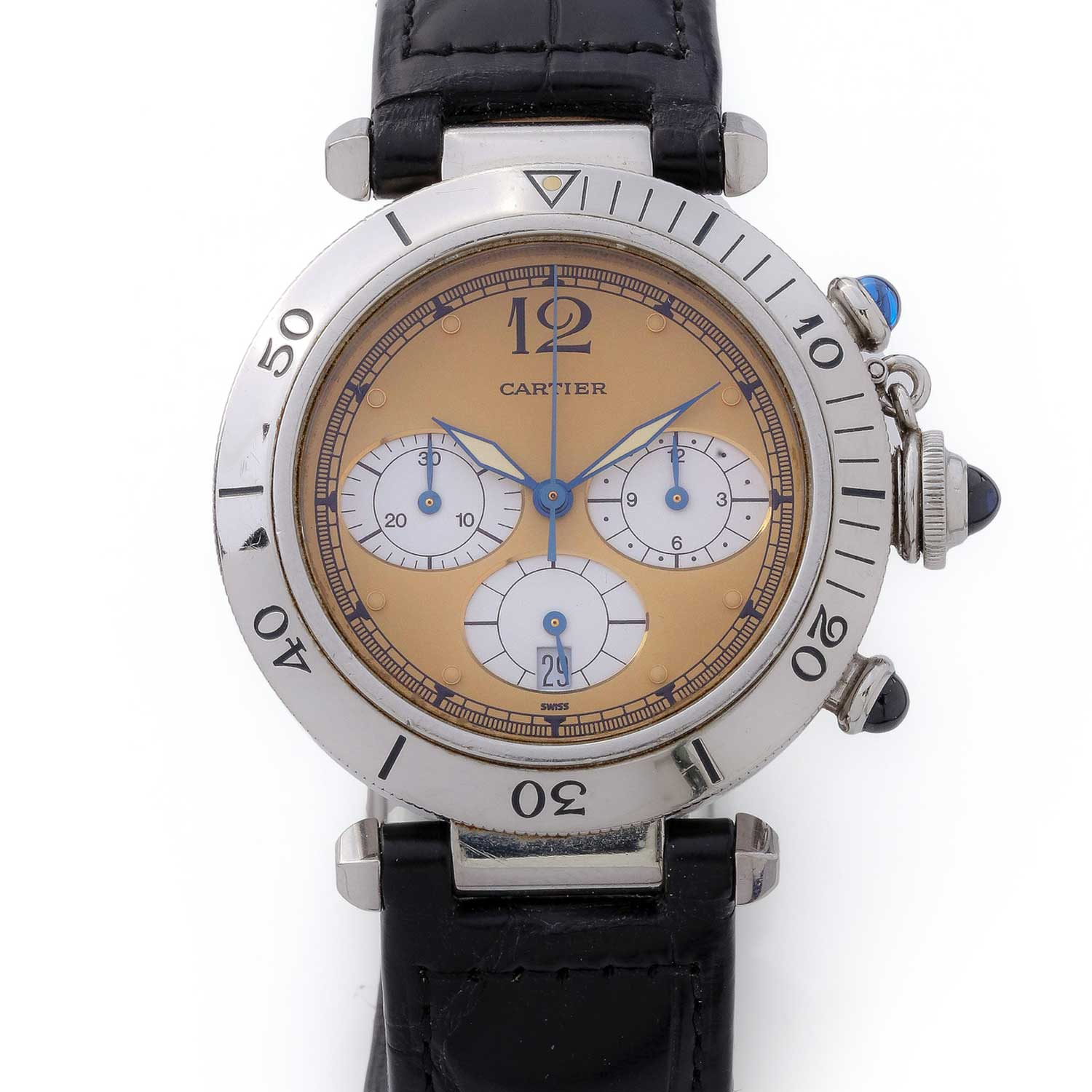Cartier Pasha Chronograph from the 1980s (Image: Antiquorum)