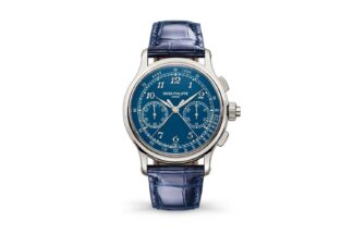 "The Patek Philippe 5370P Split Second chronograph with a blue""Grand Feu"" enamel"