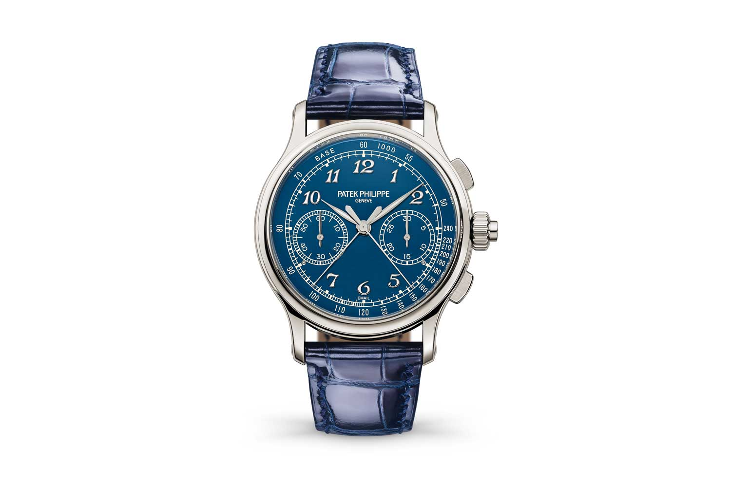 "The Patek Philippe 5370P Split Second chronograph with a blue""Grand Feu"
