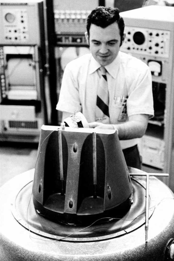 NASA's test engineer, Jim Ragan putting the Speedmaster through its paces at NASA