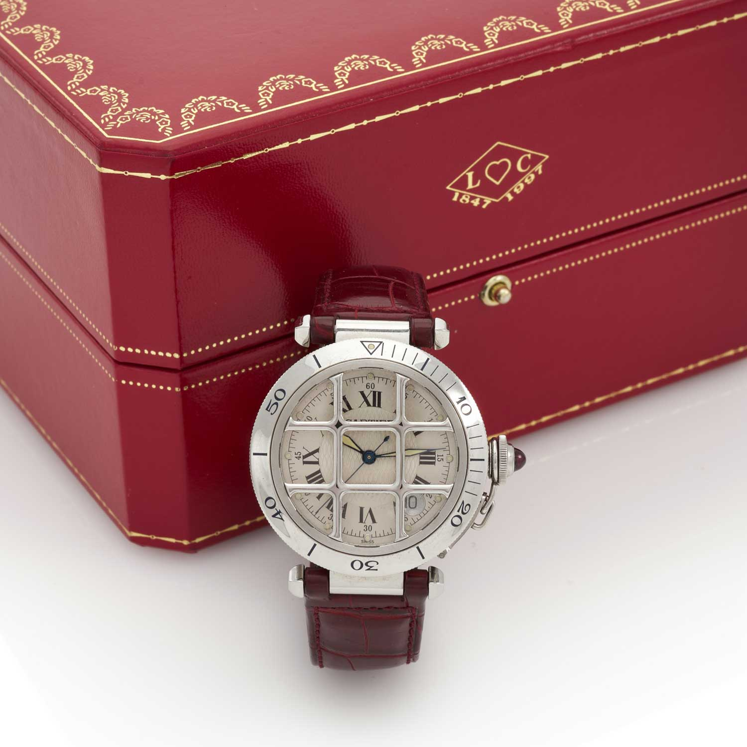 Limited edition Cartier Pasha 150th Anniversary in steel (Image: Sotheby's)