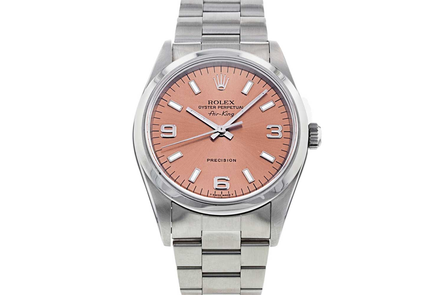Rolex Air King ref. 14000M with salmon dial