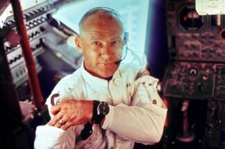 Interior view of the Apollo 11 Lunar Module showing astronaut Edwin E. Aldrin Jr. wearing his Speedmaster ref. ST 105.012 on his wrist (Image: spaceflight.nasa.gov)