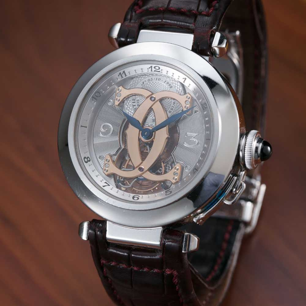 Cartier's first Pasha CPCP Tourbillon released in 1998 (Image: Watchprosite)