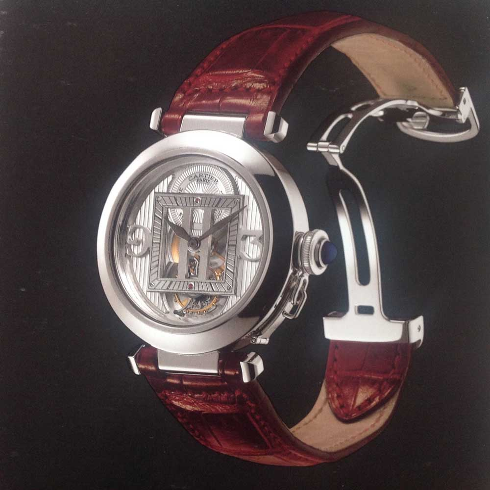 The 1999 release of the Cartier Pasha CPCP Tourbillon (Image: Watchprosite)