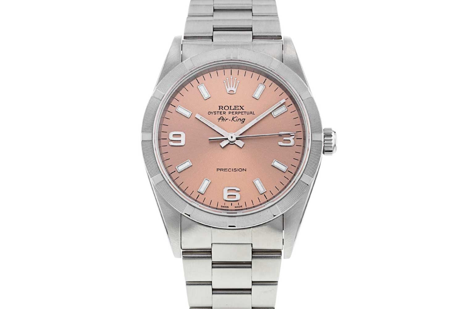 Rolex Air King ref. 14010 with salmon dial