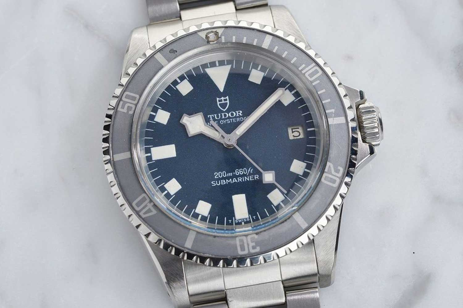 "Tudor 7021/0 Submariner Blue ""Snowflake"" (Image: Bulang And Sons)"