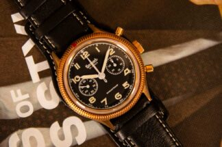 Hanhart x The Rake & Revolution Limited Edition Bronze 417 Chronograph (Photo by Rikesh ©Revolution)