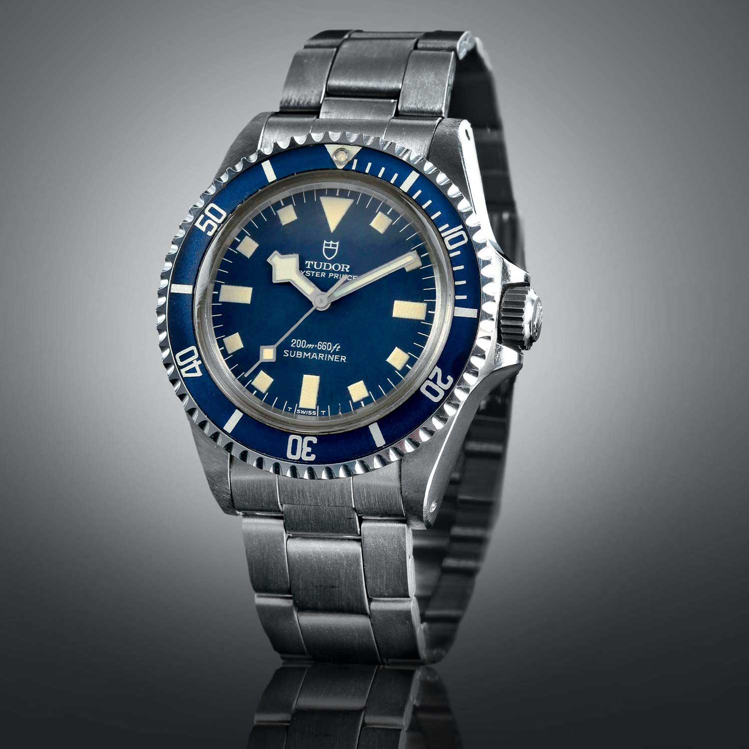 "The 1969 Tudor Prince Oyster Submariner ref. 7016 was the culmination of all of the feedback that Tudor received from the Marine nationale française; along with the ref. 7021 (same watch with date window) were the first Tudor Submariners to feature the now iconic ""snowflake"" hands (Image: tudorwatch.com)"