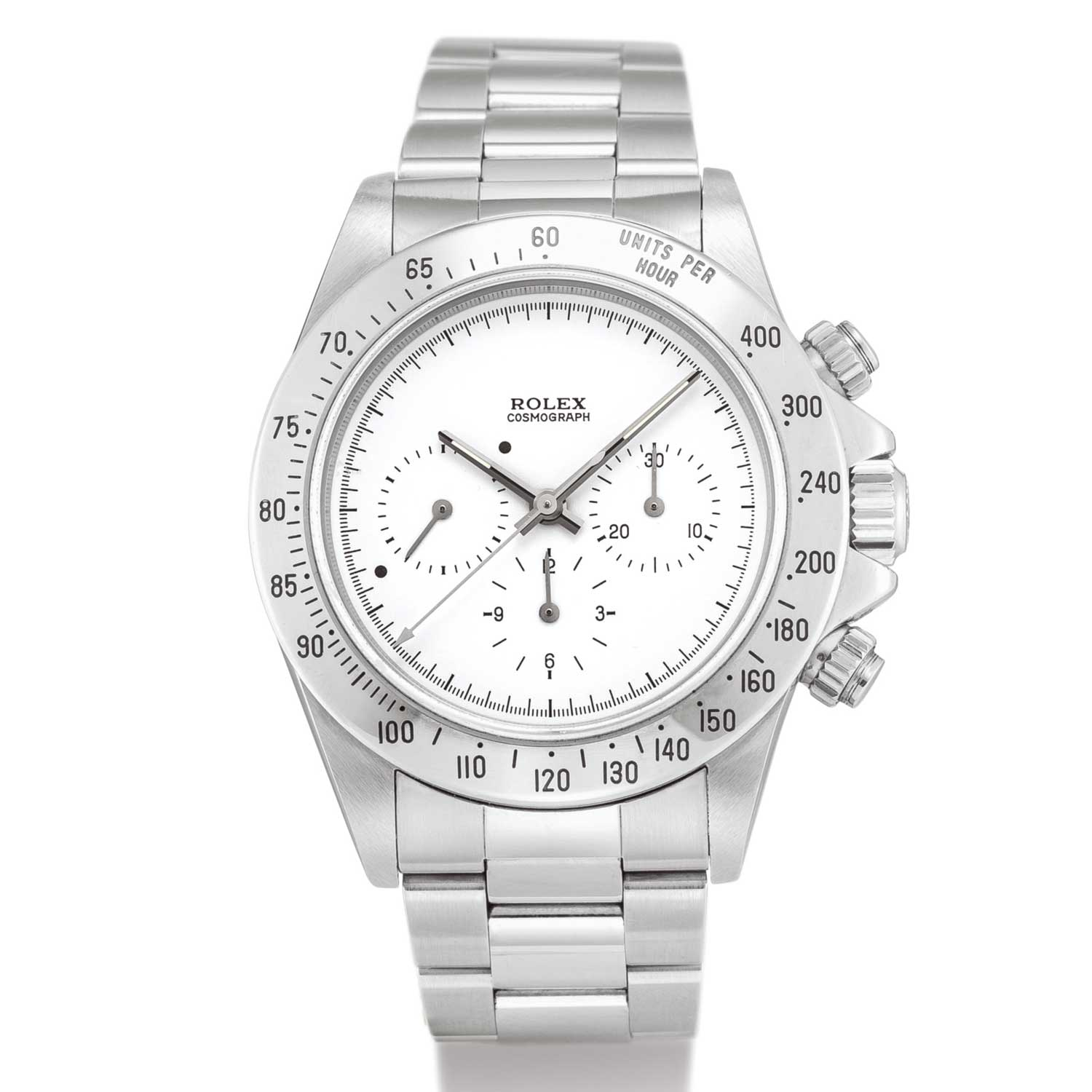 Rolex Cosmograph Daytona, Reference 16520 A Stainless Steel Chronograph Wristwatch With Test Dial And Bracelet, Circa 1998