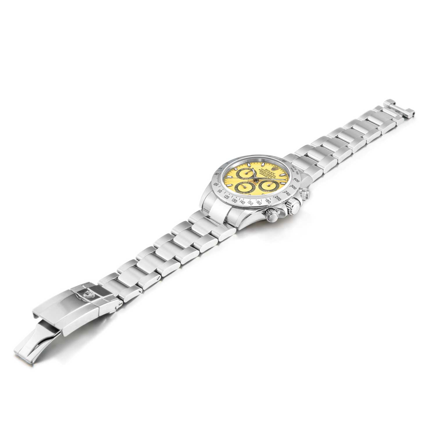 Rolex Cosmograph Daytona, Reference 116520 A Stainless Steel Chronograph Wristwatch With Citrus Dial And Bracelet, Circa 2000