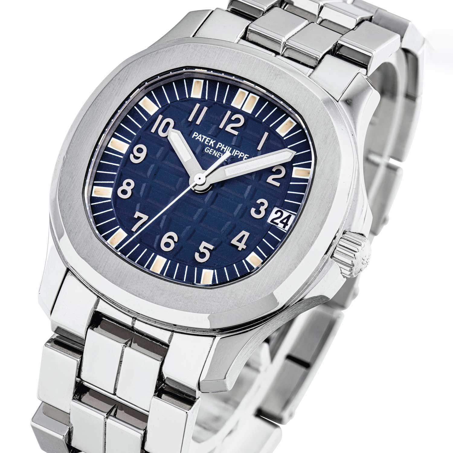 Lot 2443: Patek Philippe Aquanaut with Blue Dial, Limited Edition for the Japanese Market