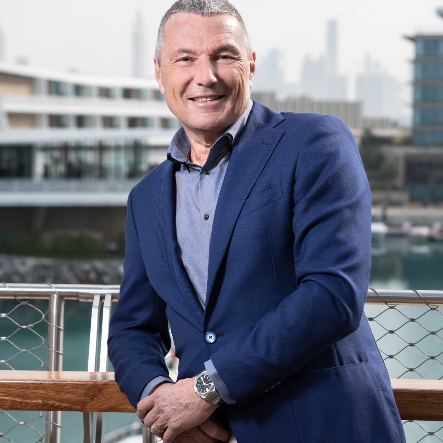 Bulgari CEO, Jean-Christophe Babin earlier in 2020 at the LVMH Watch Week in Dubai, January 13-15