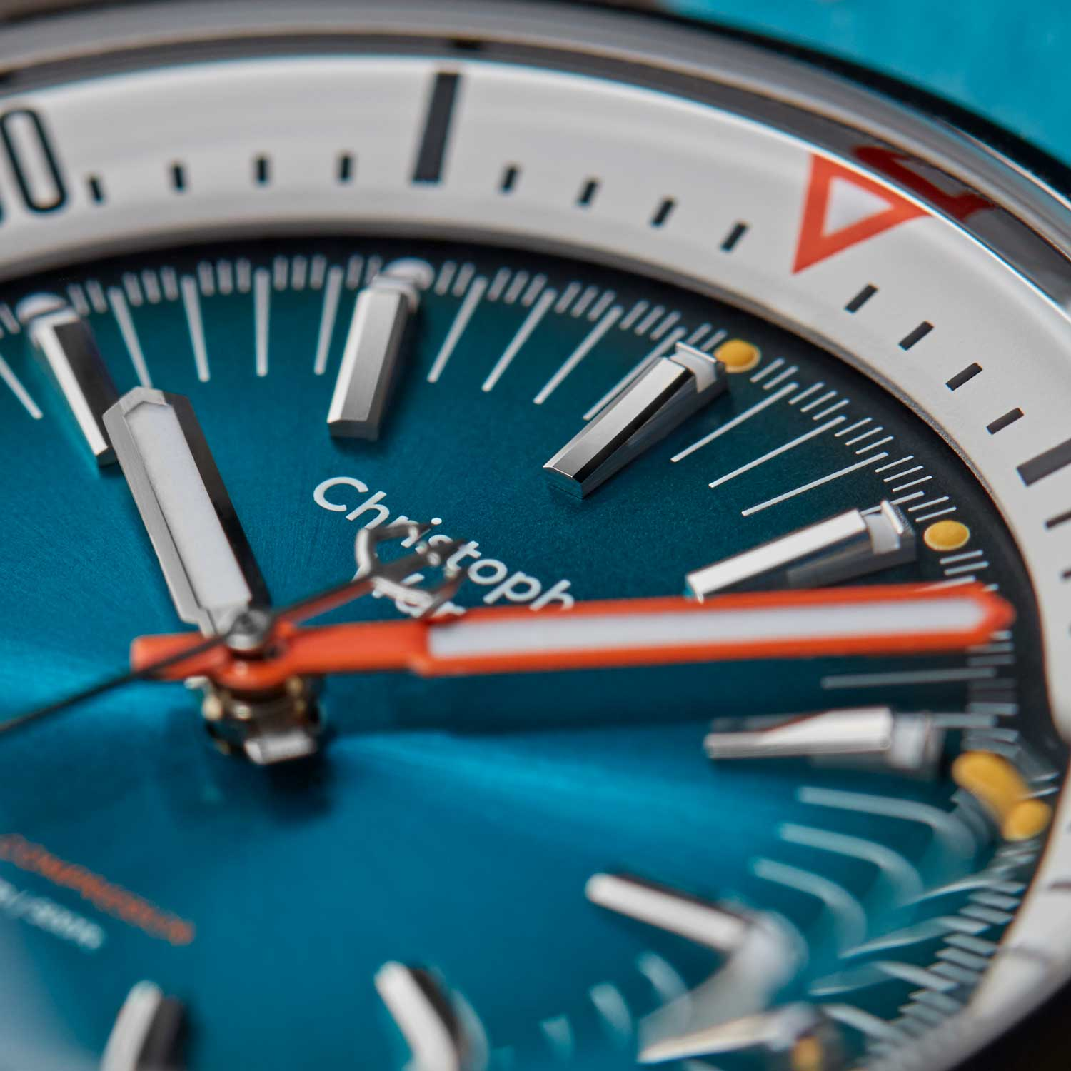 Dial details on the new Christopher Ward C65
