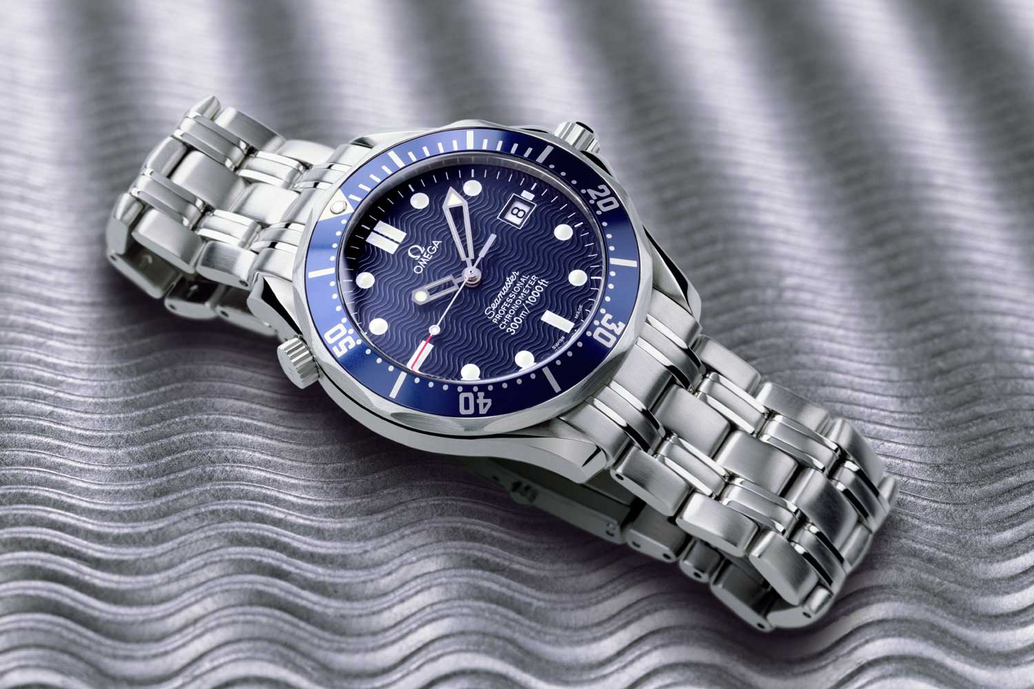 The version of the Seamaster Diver 300M that Bond wore in Tomorrow Never Dies (1997), The World is Not Enough (1999) and Die Another Day (2002)