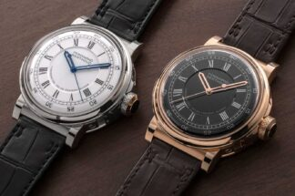 The all new Ferdinand Berthoud Chronomètre FB 2RE in white and rose gold (©Revolution)