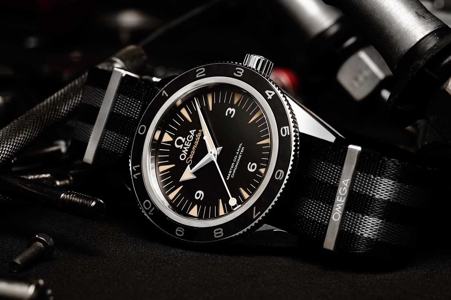The Omega Seamaster 300 Master Chronometer Spectre Edition made for Bond in the Spectre (2015) instalment