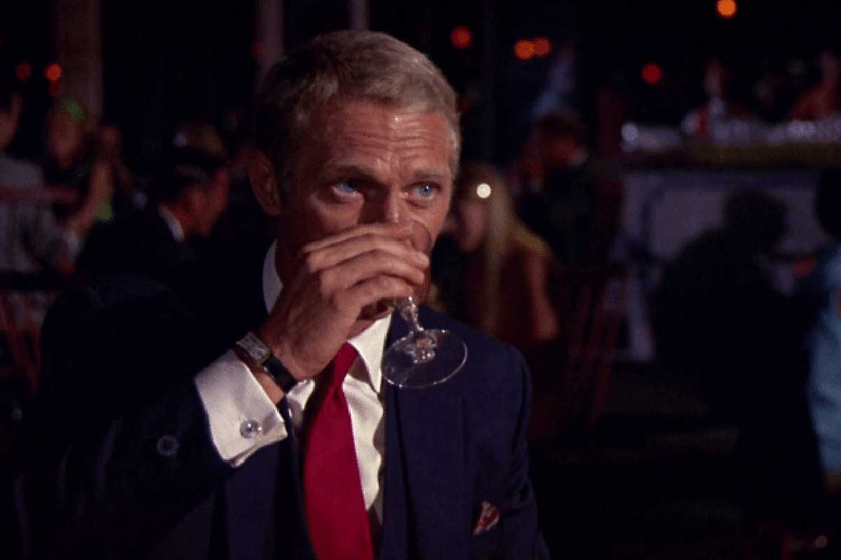 Crown and the Cartier Tank Cintrée as seen here in a screengrab from the film