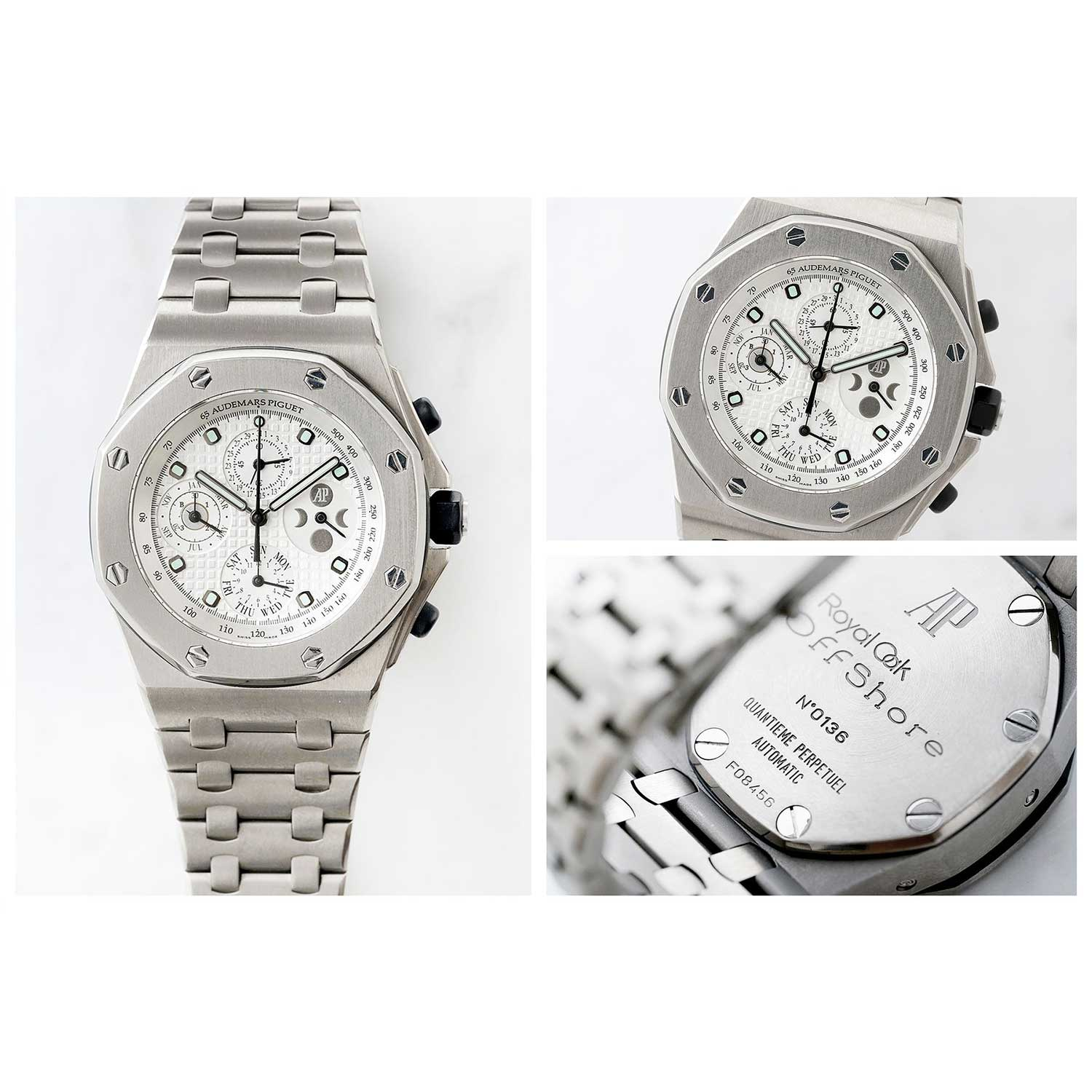 The 2003 Royal Oak Offshore Perpetual Calendar ref. 25854TI in titanium with a white dial (phillipswatches.com)
