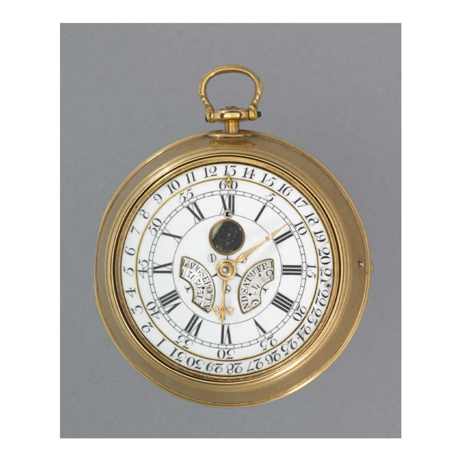 Thomas Mudge's Perpetual Calendar pocket watch No. 574 made in 1764; presently the property of the British Museum (Image: britishmuseum.org)