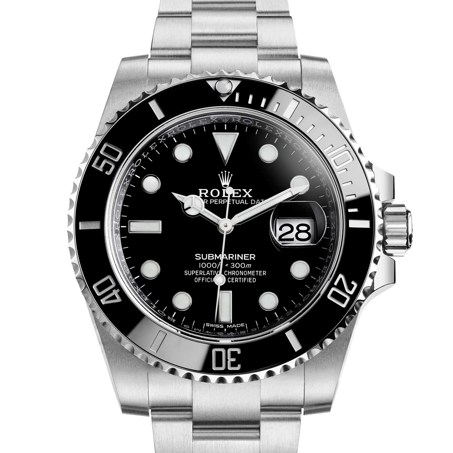 2010: Ref. 116610 date model in steel, fitted with a Cerachrom bezel in ceramic.