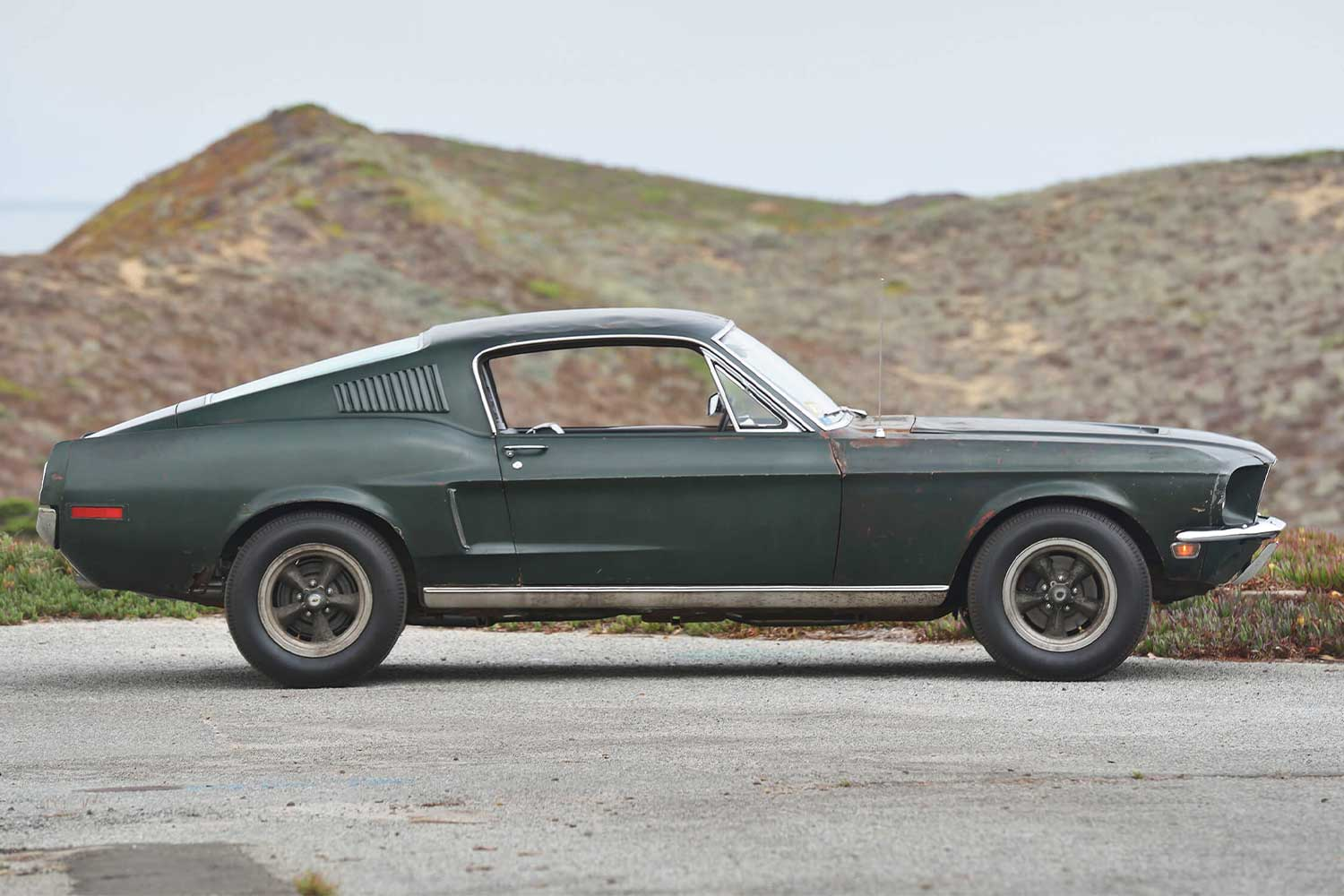 The McQueen Bullitt Mustang GT 390 Fastback was sold for $3,740,000 at Mecum Kissimmee 2020 and became the most valuable Ford Mustang in the world (Image: bullitt.mecum.com)