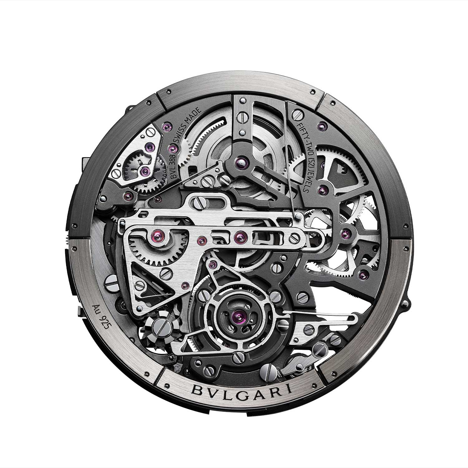 The view of the 3.5mm BVL388 calibre as from the display caseback