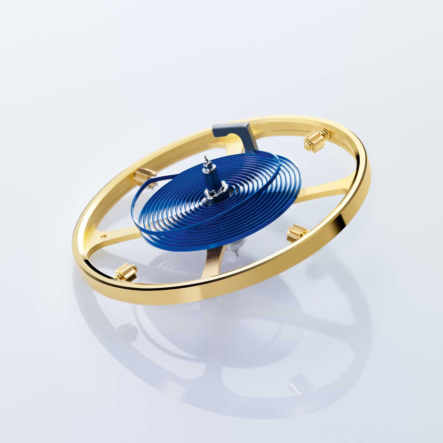 Insensitive to magnetic fields, the Rolex Parachrom hairspring offers great stability against temperature variations and is 10 times more precise than a traditional hairspring in case of shocks.